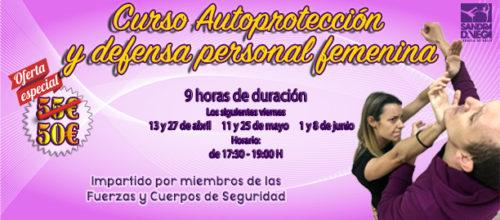 Curso de autoprotección y defensa personal femenina