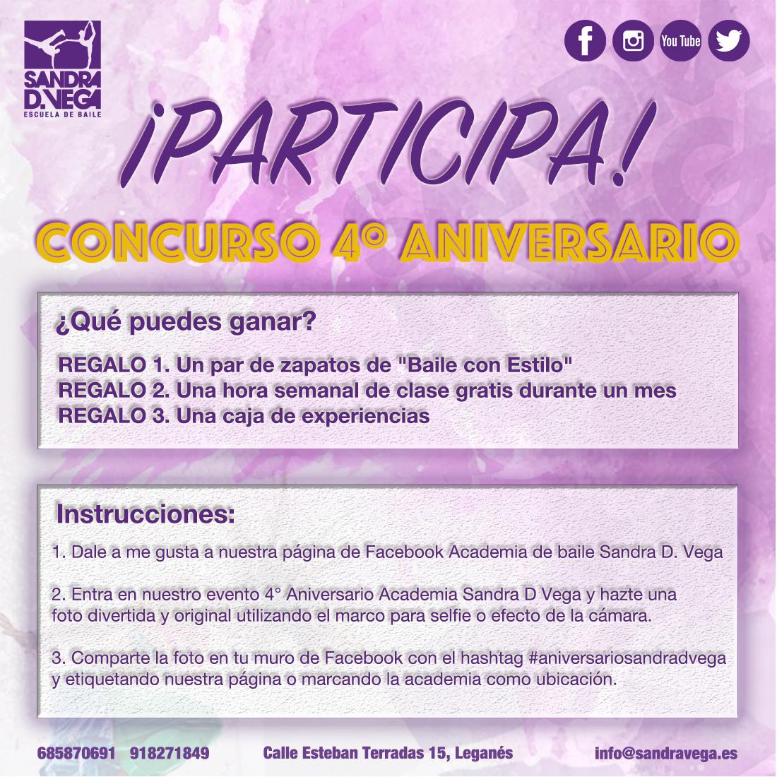 Concurso 4° Aniversario - Academia de baile Sandra D. Vega