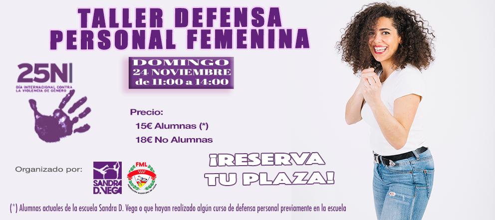 Taller Defensa Personal 24N - Academia Sandra D. Vega