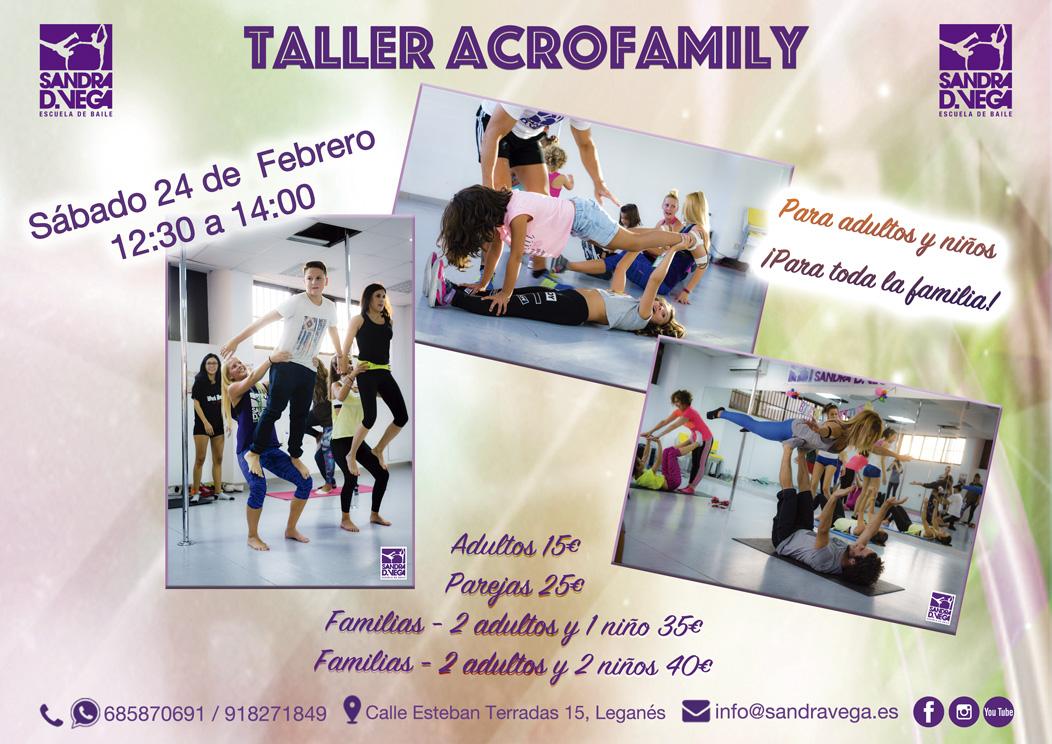 Taller Acrofamily 24 febrero - Academia Sandra D. Vega