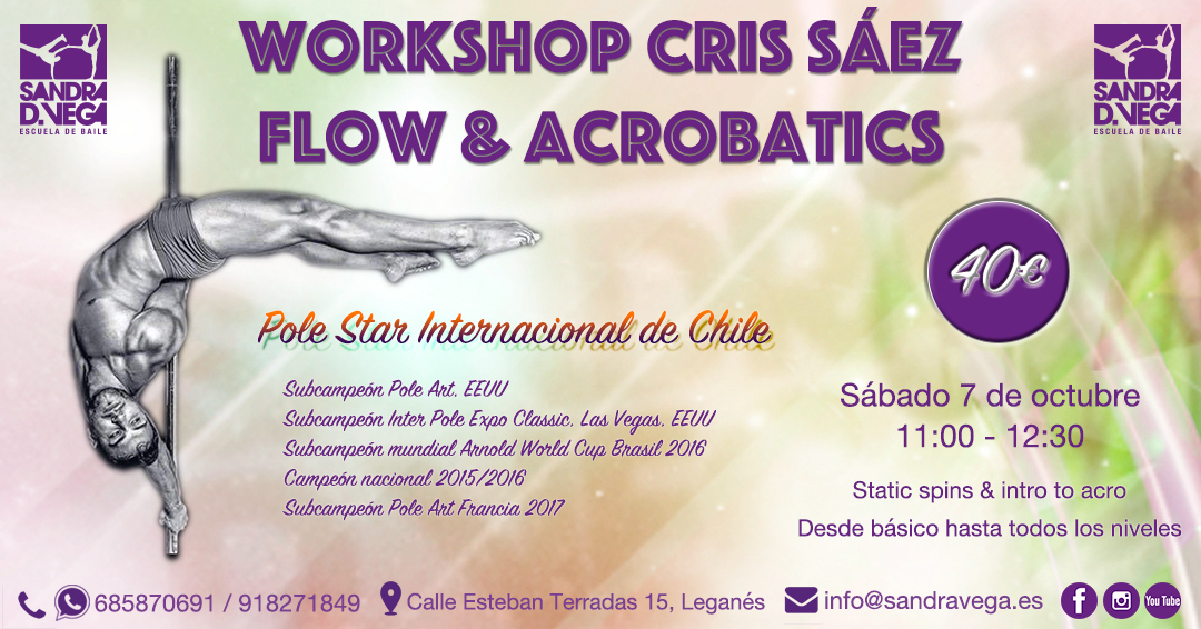 Workshop Pole Dance con Cris Sáez - Academia de Baile Sandra D. Vega