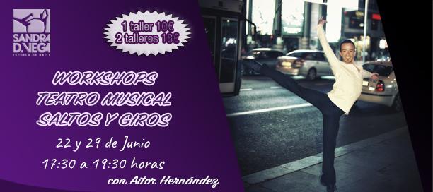 Talleres de Teatro Musical, Saltos y Giros - Academia Sandra D. Vega