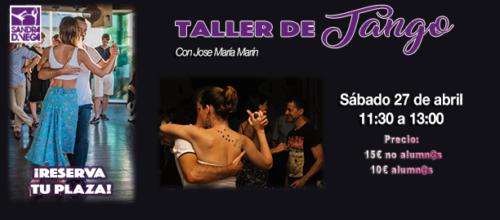 Taller de Tango – 27 de abril de 2019