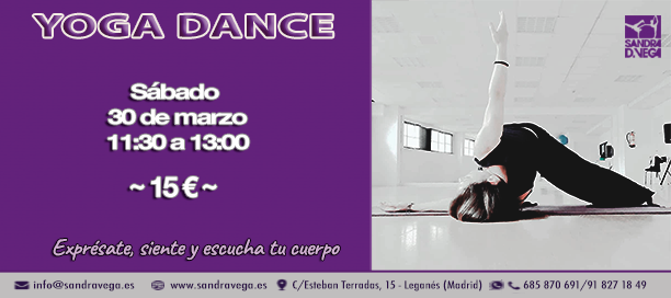 Taller Yoga Dance 30 marzo - Academia Sandra D. Vega
