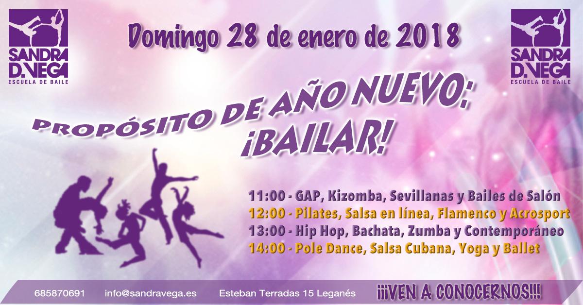 28 enero - Proposito año nuevo Bailar - Academia Sandra D Vega