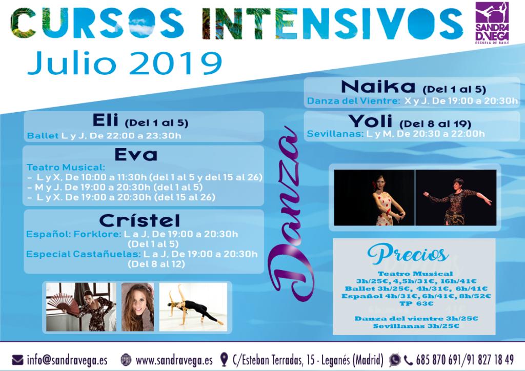 cursos intensivos danza - academia sandra d. vega