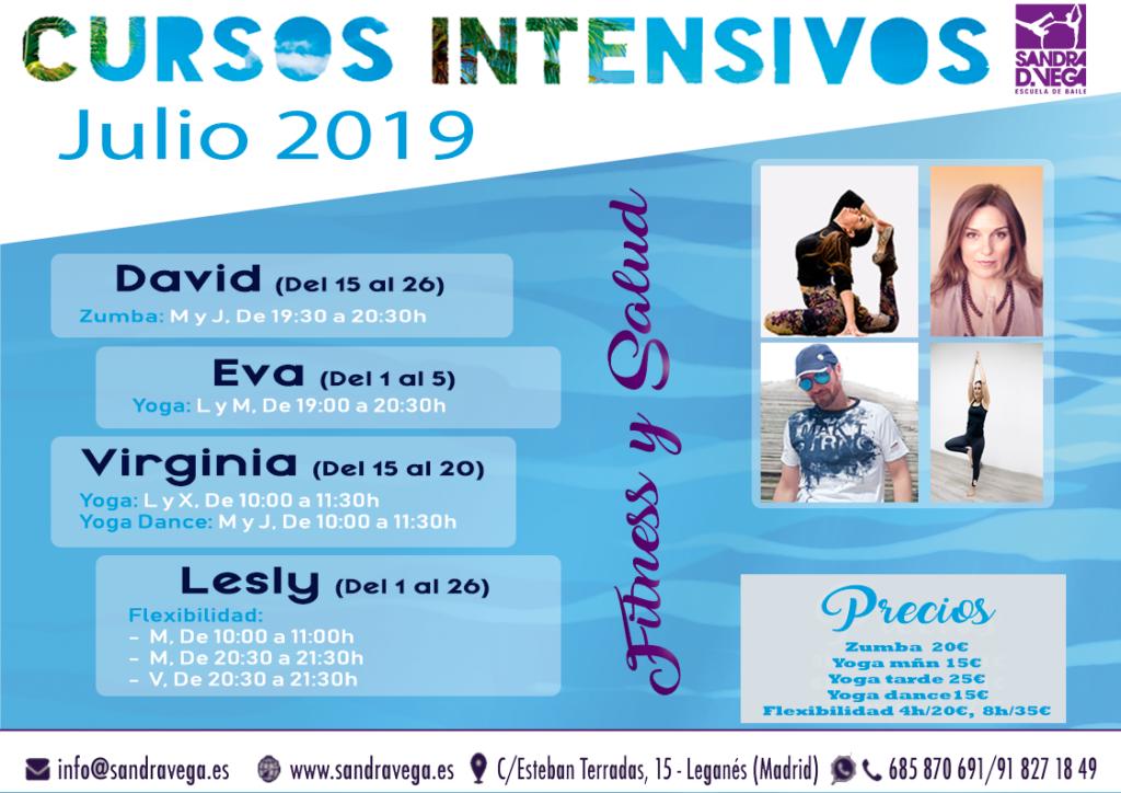 cursos intensivos fitness y salud - academia sandra d. vega