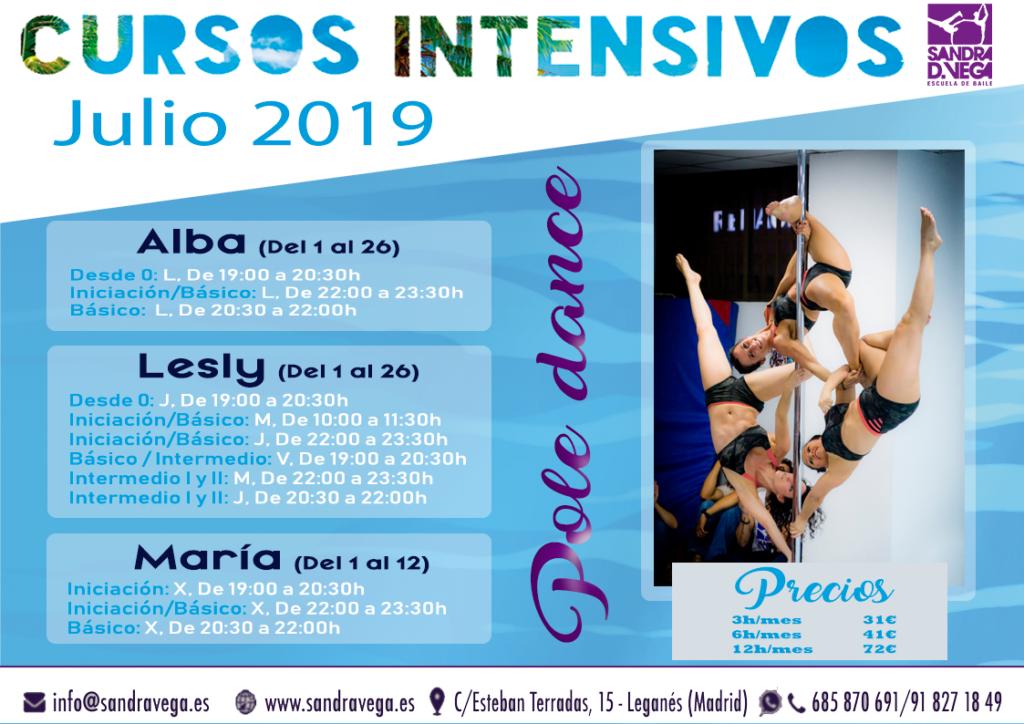 cursos intensivos pole dance - academia sandra d. vega
