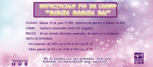 Espectáculo fin de curso «BIBIDI BABIDI BU»