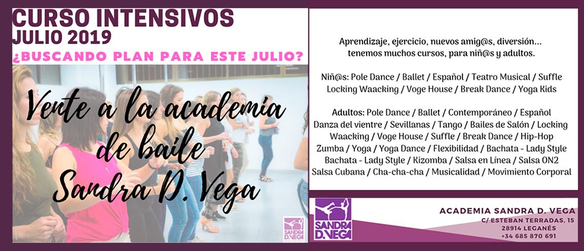 cursos intensivos julio 2019 - academia Sandra Vega