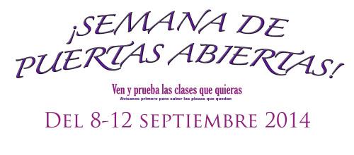 JORNADA DE PUERTAS ABIERTAS DEL 8-12 DE SEPTIEMBRE 2014